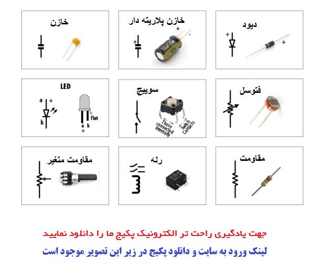 علامت فنی قطعات الکترونیک