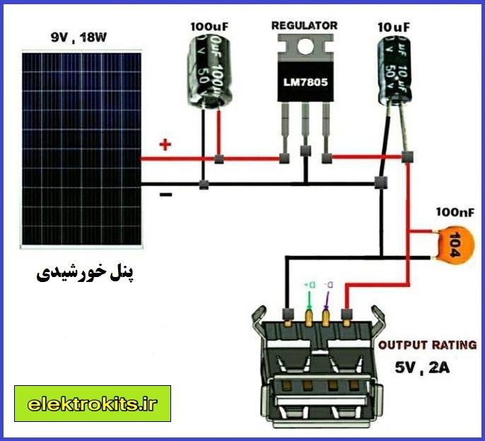 مدار شارژر خورشیدی